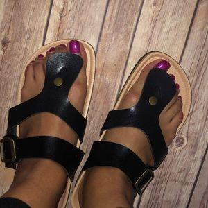 Pandora Summer Black Thong Sandals